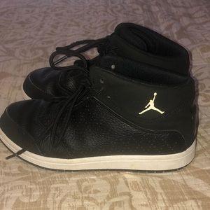 Boys Nike Jordan Black Leather Sneakers 3Y